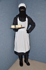 Slave Maid (Warm Clothes Fetish) Tags: slave niqab hijab burka chador girl sweat torture warm hot winter waitress maid anorak coat fleece
