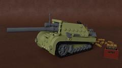 Self-propelled gun (Sunder_59) Tags: lego moc blender3d render mecabricks tank artillery vehicle military dieselpunk