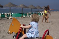 The bigger girls (dan.oxlade) Tags: beach park d40 nikon nikkor nikkor50mm118g travel horse