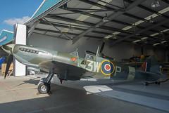 Left Side View, Supermarine Spitfire LF Mk XVIE, RW382, Heritage Hangar, Biggin Hill (Peter Cook UK) Tags: supermarine rw382 e heritage lf xvie xvi biggin spitfire hill 2016 kent mk hangar
