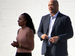 Congressman Andre Carson in Beech Grove, IN. (kennethkonica) Tags: andrecarson uscongressmanandrecarson congress photoshoot politicalad politics people persons suit beechgroveindiana streetphotography street midwest usa america marioncounty indiana indianapolis indy canonpowershot canon global hoosier random candid bestshotoftheday bald congressman jacket