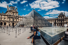 Leading Lines at The Louvre (WestCoasting) Tags: france paris thelouvre eurotrip2016 travelphotography