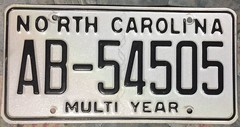 NORTH CAROLINA ---LONG TERM USE PLATE UNCERTAIN of DETAILS (woody1778a) Tags: usa american licenseplate numberplate registrationplate mycollection myhobby state unitedstates north carolina multiyear