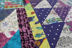IMG_9844 (Cecca W) Tags: patchwork quilt wip workinprogress sewing spoonflower myfabric patterndesign patterndesigner quilting triangles purple ceccadesigns textiledesign fabric babyquilt patchworkquilt