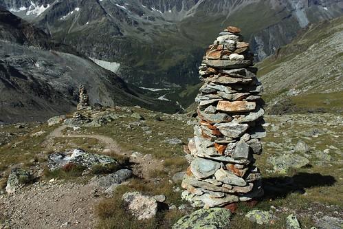 les cairns d'Arpitettaz