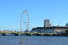 London River Blues (dhcomet) Tags: london river thames eye westminster bridge countyhall