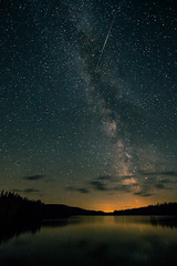 Persede dans le ciel du Qubec (sviet73) Tags: nuit pourvoiriedutriton toile mauricie ciel toile voie lacte lac edouard