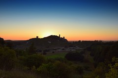 summer sunset (JoannaRB2009) Tags: olsztyn jurakrakowskoczstochowska summer landscape view colours sunset hill castle zamek royal ruins nature polska poland