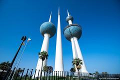 ..kuwait towers.. (asifshah.com) Tags: kuwait city towers architecture landmark day blue sky cityscape
