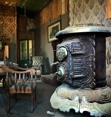 cold days by a warm stove (Karol Franks) Tags: ghost town historical park california bodie interior stove wallpaper