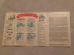Carnation Ice Cream Parlor Menu (Retrolandia) Tags: disneyland 1960s carnationicecreamparlor