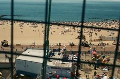 Coney Island 7.4.2010 (ngolebiewski) Tags: ocean brooklyn 35mm coneyisland atlantic fujifilm 4thofjuly heatwave realfilm