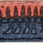 "<b>The Father's Rest</b><br/> Orville Running, LFAC# 2012.08.06, Woodcut, Print<a href=""http://farm9.static.flickr.com/8271/8698339395_ee3a710c9b_o.jpg"" title=""High res"">∝</a>"
