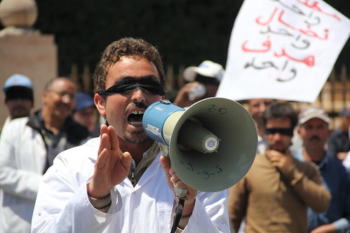 May Day protests - Rabat, Morocco