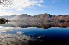 Derwentwater (wilkie,j ( says NO to badger cull :() Tags: light mountains clouds reflections landscape countryside nikon day lakes lakedistrict cumbria mornings nationalparks nationaltrust keswick pwpartlycloudy
