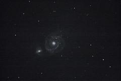 M051 - The Whirlpool Galaxy (ejwwest) Tags: galaxy messier Astrometrydotnet:status=solved Astrometrydotnet:version=14400 elementsorganizer11 sotonastro Astrometrydotnet:id=alpha20130515061072