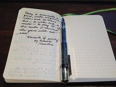 handwriting notebook fountainpen kaweco