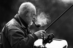 Fisherman [explored#197] (Mark Winterbourne | markwinterbourne.com) Tags: england umbrella michael fishing fisherman unitedkingdom smoke pipe tent smoking rod carp smoker roach micheal reel padgett guiseley yeadon pipesmoker markwinterbournephotographycanoneosbradfordwestyorkshireunitedkingdomleedsyeadon markwinterbournephotographycanoneosbradfordwestyorkshire yeadontarndam