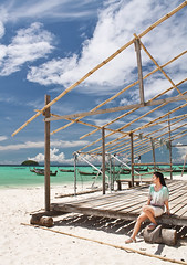 Bamboo (paza140) Tags: travel sea sky woman holiday beach nature water girl lady clouds thailand island bamboo sands lipe nationalgeographic paza140