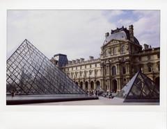Louvre (Sally Dunford) Tags: paris louvre wideformat fujiinstax instax210 fujiinstax210