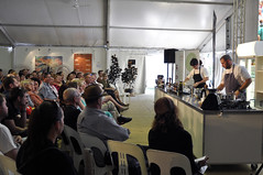 Chef demonstration (Roving I) Tags: cooking events festivals australia queensland noosa uniforms demonstrations sunshinecoast chefs foodandwine