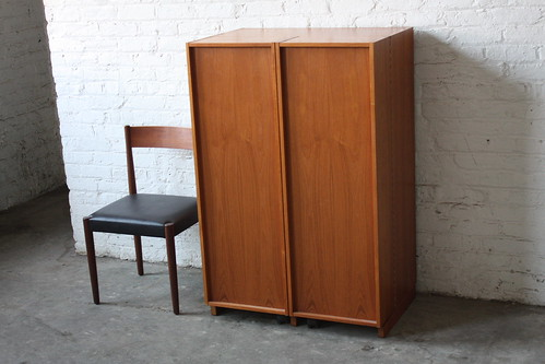 Astonishing Danish Mid Century Modern Expandable Teak Cabinet Desk (Denmark, 1970