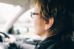 The Driver (Fitzrovia) Tags: blur car driving bokeh mother blurred disabled nawal shallowfocus