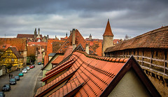 Red Clay Roofs of Rothenburg ob der Tauber Germany (mbell1975) Tags: old red germany bayern deutschland bavaria town europe franconia medieval roofs clay german ob der altstadt rothenburg deutsch odt tauber roethenburgodtgermany