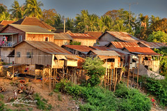 Houses-at-the-River-in-Battambang-Cambodia (Captain Kimo) Tags: travel river cambodia khmer culture battambang houseonstilts hdrimage singleexposurehdr cambodianhouse topazadjust captainkimo