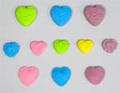 Heart shapes size 2-3 cm (sweetinspirationsaustralia) Tags: cupcaketoppers