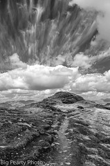 Touch The Sky (big fearty) Tags: monochrome scotland scenic cumulus cirrus munro polarised bridgeoforchy bendorain munrolandscape