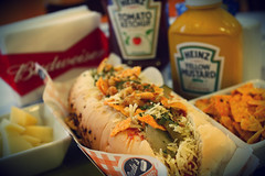 Hot Dog Vegetariano (ossadah) Tags: original hotdog onion budweiser fogo brahma boteco coxinha cachaa chopp frutosdomar petisco churrasquinho acaraje natalicio
