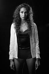 Jenice #2 (Matthieu Verhoeven - Photographer -) Tags: portrait woman white black sexy girl model nikon shoot portret zwart wit vrouw meisje d3 matthieuverhoevennl