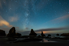 Moonset (Ranbo (Randy Baumhover)) Tags: beach oregon stars pacificocean oregoncoast bandon milkyway