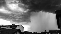 Storm is coming... (fafisavoie) Tags: pluie orange storm blackandwhite monochrome weather rain