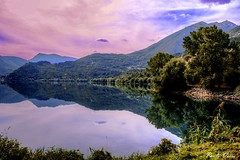 Il lago di Scanno - Scanno's lake (Pablos55) Tags: lago riflessi cielo monti lake reflections sky mountains scanno