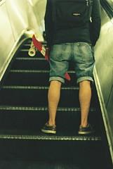 SK8#2 (Piero Cioffi) Tags: fuji fujifilm fujicolor c200 nikon fm2 london street skate sk8 elevator vans eastpak tube