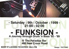 Funksion (Mary Hawkins) Tags: flyer clubkid london summer 1999
