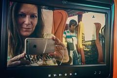 For me it's a selfie mirror (Melissa Maples) Tags: manavgat turkey trkiye asia  apple iphone iphone6 cameraphone instagram me melissa maples selfportrait woman brunette coach bus mirror reflection photographer
