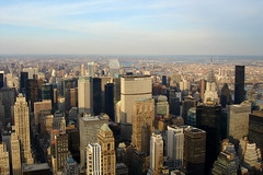 Midtown Manhattan from the Empire State Building, New York City, USA (tfadam) Tags: evening sunset skyscraper midtown newyorkcity manhattan chryslerbuilding