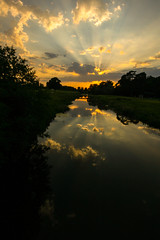 Until another day (Costigano) Tags: sunset dusk sundown sun sunlight sky clouds light reflection water river carton canon eos