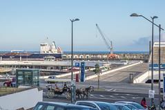 The harbour inlet with the restaurant pier (Staffan Swede) Tags: hamnomrde pir pier utomhus vatten atlanten atlantic ocean restaurant azorerna azores pontadelgada harbourinlet hamninfart
