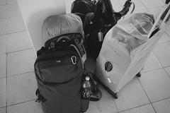 Bags are packed (seasonal wanderer) Tags: inle inlay myanmar burma olympusomdem5ii bw luggage travel minaal