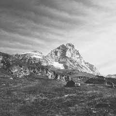 553 (Frelu) Tags: nature vscocam blackwhite mountain bw landscapes blackandwhite cervinia bnw iphone iphoneography black matterhorn white mobilephotography landscape cervino montagna