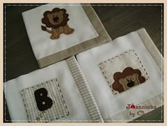 panos de boca (Joanninha by Chris) Tags: handmade feitoamo artesanato enxovalbebe aplicaodetecidos bordado beb baby patchwork panosdeboca leo