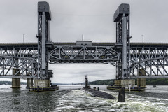 USS Missouri SSN780 (Frank C. Grace (Trig Photography)) Tags: ussmissouri ssn780 naval nuclear submarine navy us military ct connecticut newengland subbase groton thamesriver goldstarmemorial bridge thamesriverbridge amtrak unitedstates