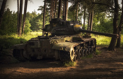 Well done Mr. Patton (-SebsTian-) Tags: sun light shadow trees tank panzer patton m47 m46 tamron sony a58