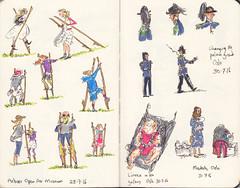 Page 30 (tanaudel) Tags: sketchbook sketching moleskine drawing illustration travel traveljournal norway oslo stilts folkmuseum iceland reykjavik children changingoftheguard lightgreyartresidency lightgreyartlab