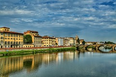 Street shot Florence (exploringeurope) Tags: florence italy streetphotography photography canon5dmarklll canon5dmarkiii river bridge water architecture colorful toscana