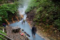 bathing ghosts (Role Bigler) Tags: canoneos5dsr hokkaido japan longexposure nature nippon bathing canonef1635lisusm river termalriver thermalwater volcanicaera noboribetsu
